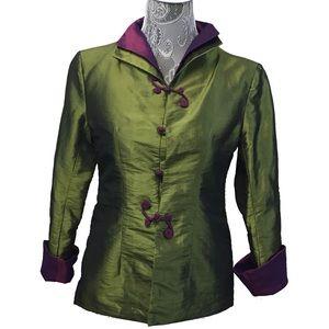 DRAGON SILK vintage iridescent shanghai jacket
